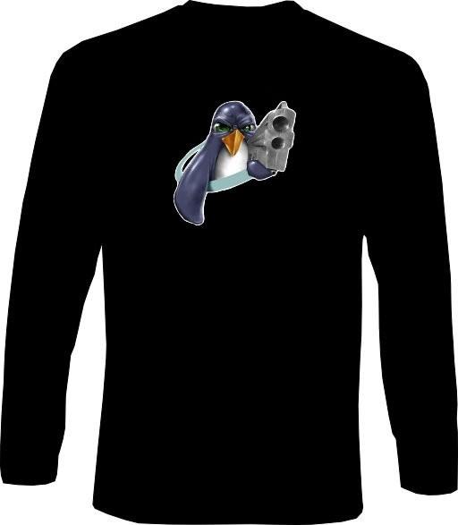 Langarm-Shirt - Tux Gun