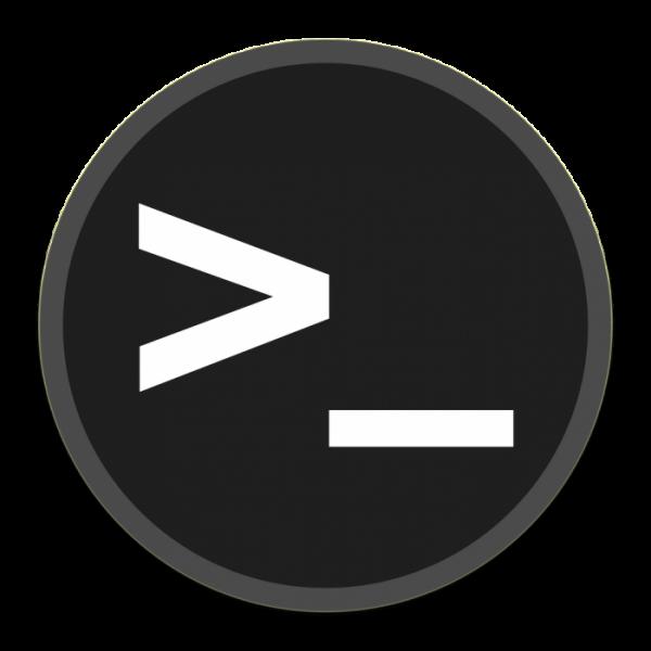 Notebook-Sticker - Linux Konsole - rund
