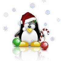 Notebook-Sticker - Tux Christmas