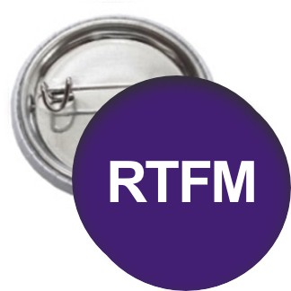 Ansteckbutton - RTFM