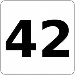 Tasten-Sticker - 42 - Die Antwort