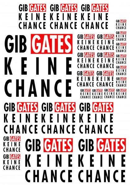 Maxi-Sticker - Gib Gates keine Chance A4