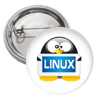 Ansteckbutton - Linux Tux