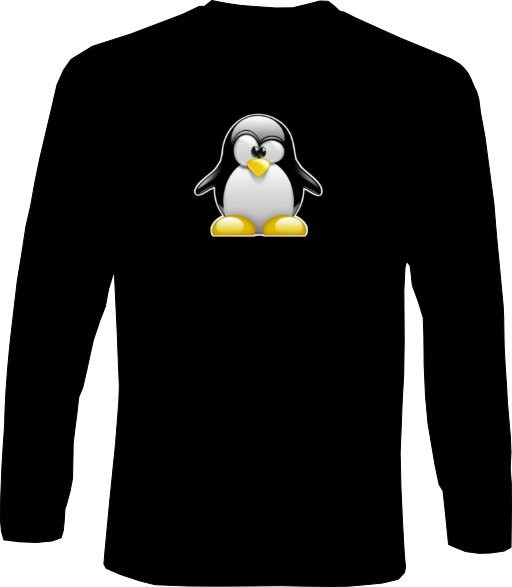 Langarm-Shirt - 3D Tux