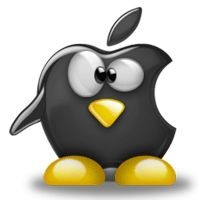 Notebook-Sticker - Tux Apple