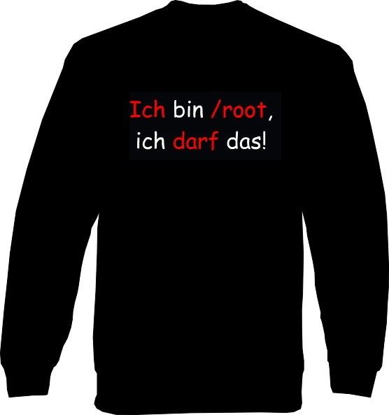 Sweat-Shirt - Ich bin /root