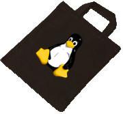 Baumwolltasche - Linux Pinguin
