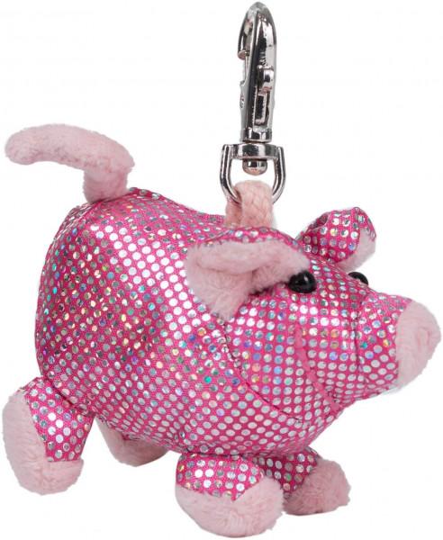 Schlüsselanhänger - Plüsch-Schwein Glitz & Glamour