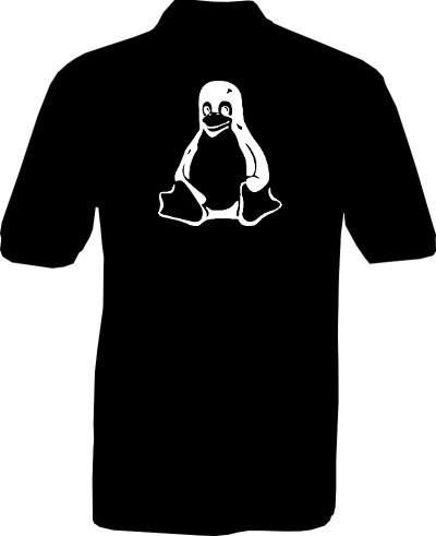 Polo-Shirt - Tux Pinguin - Rückseite
