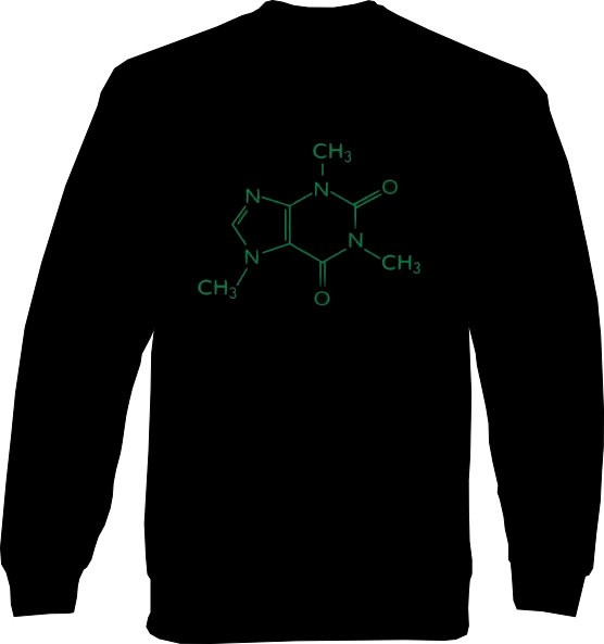 Sweat-Shirt - Koffein Molekül